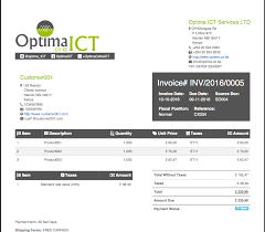 Illustration Invoice Template Accounting Multiple Professional Customizable Invoice