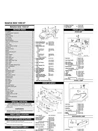 mazda mx6 body parts catalogue steering anti lock braking system
