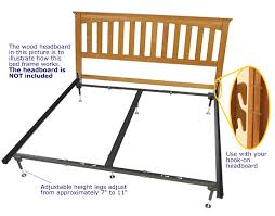 bed frame with hooks for headboard and footboard hook on bed