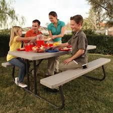 Lifetime Folding Picnic Table 6 Ft Folding Picnic Table Putty