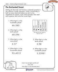the enchanted forest u2013 4th grade math worksheets u2013 jumpstart