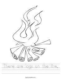 there are logs on the fire worksheet twisty noodle