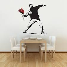 28 banksy wall sticker banksy barcode leopard wall sticker banksy wall sticker banksy flower thrower wall stickers amp decals