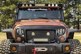 jeep track rugged ridge 11232 55 elite fast track led u0026 mirror kit for 07 18