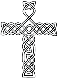 printable coloring pages of jesus on the cross page free celtic