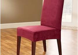Sure Fit Stretch Pique Shorty Dining Room Chair Slipcover with Dining Room Chairs Covers Get Sure Fit Stretch Pique Short