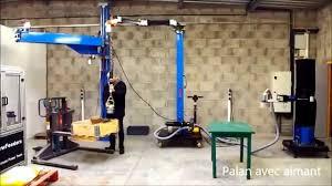 Remorque Casto by Potence De Manipulation Mobile Avec Palan électrique Youtube