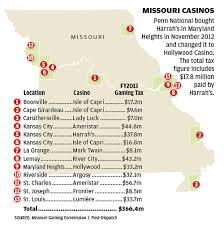 missouri casinos map missouri casinos map and chart stltoday