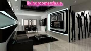 black and green livingroom idea corner sofa chairs wall tv unit