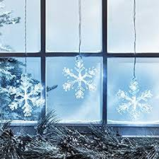 Photos Of Christmas Window Decorations by Amazon Com Snowflake Window Lights Pack Of Three Suction Cup