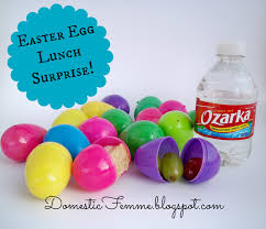 easter egg surprises domestic femme lunch easter eggs