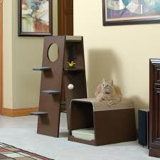 furniture pet products modular modern cat tower 416819 sauder in