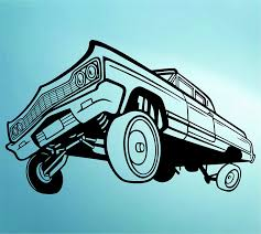 amazon com lowrider car with hydraulics decal sticker wall mural amazon com lowrider car with hydraulics decal sticker wall mural art graphic cars home kitchen