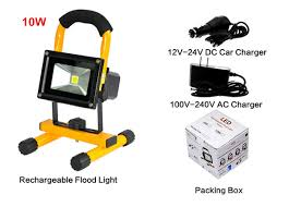 work zone rechargeable led work light portable led flood lights 10w durable handy rechargeable led work