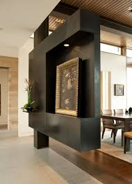 Living Room Divider Ideas Awesome Matte Black Panel With Shelves As Living Room Divider