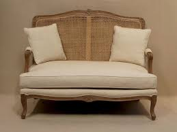 Old Style Sofa by Louis French 2 Seater Sofa With Rattan Back French Style Sofa