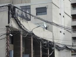 dangerous lebanon u2026 electrical wires in the streets