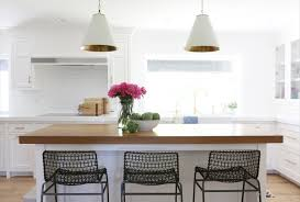 tidbits archives by tiff designs white kitchen brass hardware and a butcher block island