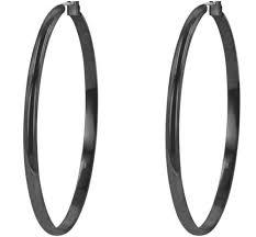 black hoop earrings flavia classic blacktone large hoop earrings black beloved