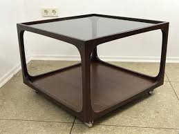 glass u0026 mahogany coffee table by wilhelm renz 1960s for sale at