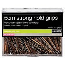 the hair grip salon services strong hair grips brown 5cm pack of 300 bobby