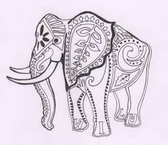 printable elephant coloring pages for adults coloring