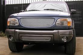 ford explorer 99 98 01 99 00 ford explorer 4dr bumper mx series silver grille insert