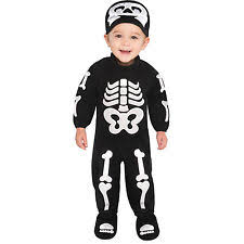 bitty bones infant toddler halloween costume child jumpsuit baby