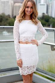 two dress set white lace scalloped trim two dress set sleeve