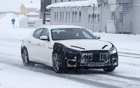 maserati ghibli 2018 maserati ghibli spied in sweden angry look prototype hides