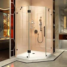 38 Shower Door Shop Dreamline Prism 38 In To 38 In W Frameless Rubbed
