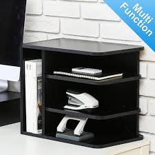 File Desk Organizer Fitueyes Wood Desk Organizer File Cabinet 3 Vertical 1 Horizontal