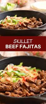 cuisine steak skillet beef fajitas rings things