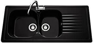 evier de cuisine 2 bacs évier en céramique noir brillant villeroy boch de la gamme targa 2