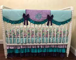 Purple And Aqua Crib Bedding Purple Aqua Crib Set Etsy