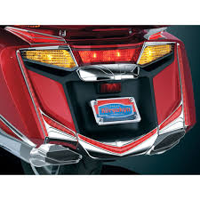 kuryakyn chrome l e d vertical rear light strips with red lenses