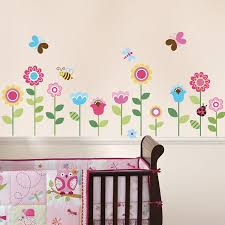 Wall Decor Stickers For Nursery Garden Flowers Baby Nursery Peel Stick Wall Sticker
