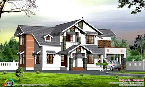 Home Design Plans 1600 Square Feet by Dormer Window Modern Sloping Roof House Kerala Home Design