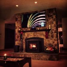ot mounting a flat screen tv to stone fireplace u2014 big green egg