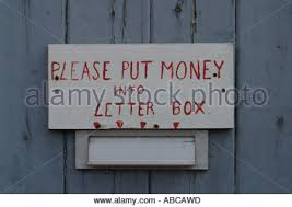 please put money into letter box u0027 stock photo royalty free image
