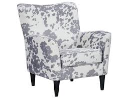 Silver Accent Chair Slumberland Cora Collection Silver Cow Print Accent Chair