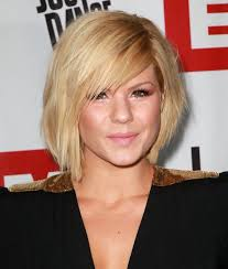short hairstyles with side swept bangs for women over 50 kimberly caldwell short bob hairstyle with side swept bangs