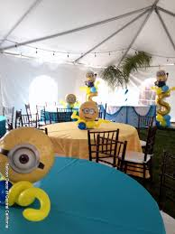 minion centerpieces balloon decor of central california centerpiece