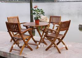 Rattan Patio Table And Chairs Yixuan Rattan Outdoor Furniture Wood Folding Tables And Chairs