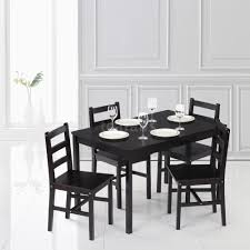 european design stunning rectangle pinewood dining table set w 4