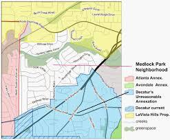 Map Of Atlanta Neighborhoods by Medlock Area Neighborhood Association Mana 2014