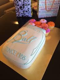 mason jar birthday cake having a ball since birthday cakes