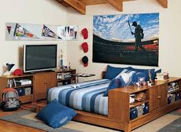 cool teen bedroom design ideas with with car themed wallpaper with
