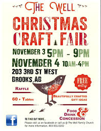 christmas craft fair at the well ministries in region of newell