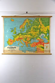 Europe Physical Map by Empirical Style Vintage Interiors Design